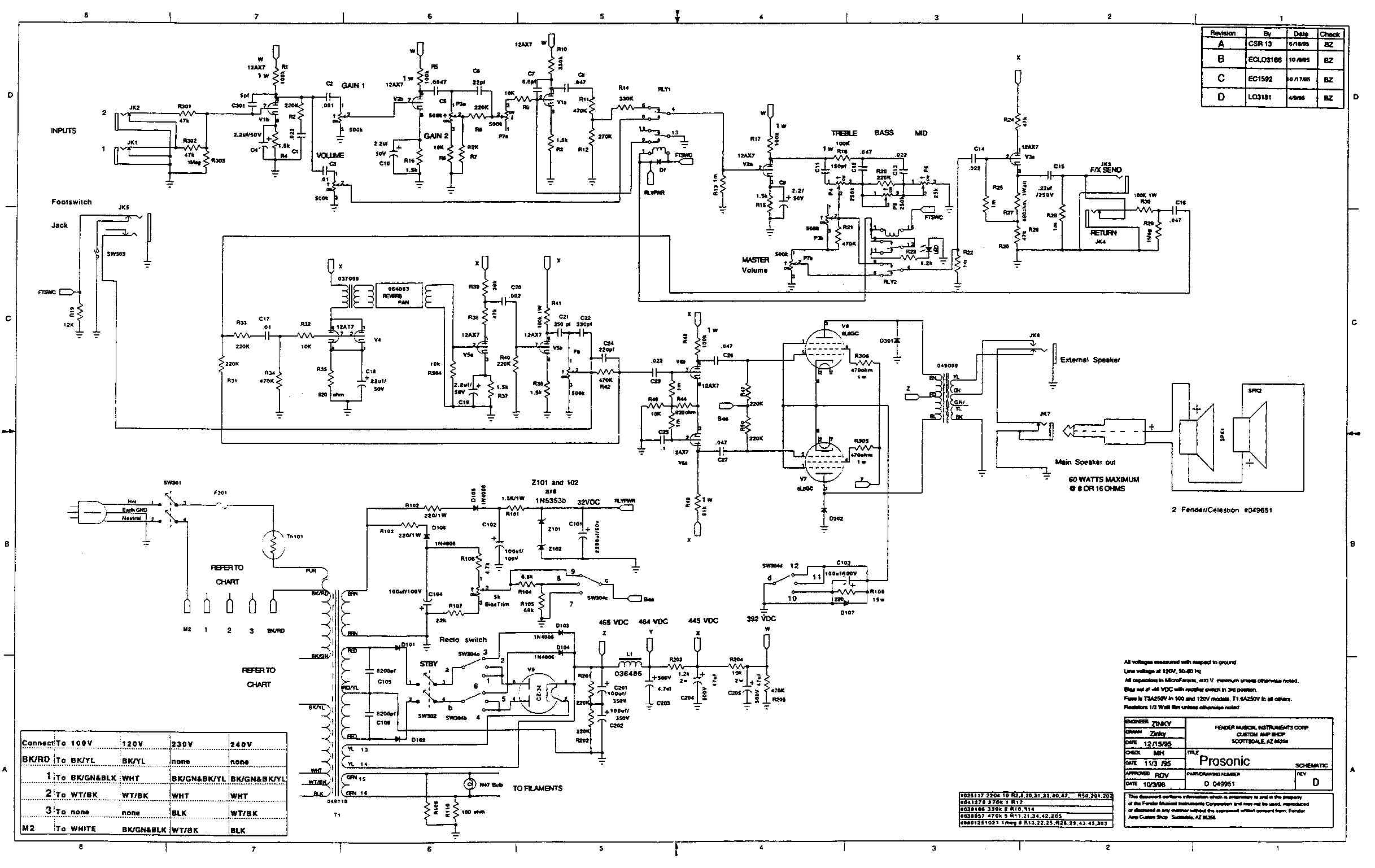 Mustang Ii Fender Amp Schematic Model Pr825 Trusted Wiring Diagrams Iv Schematics Example Electrical Circuit U2022